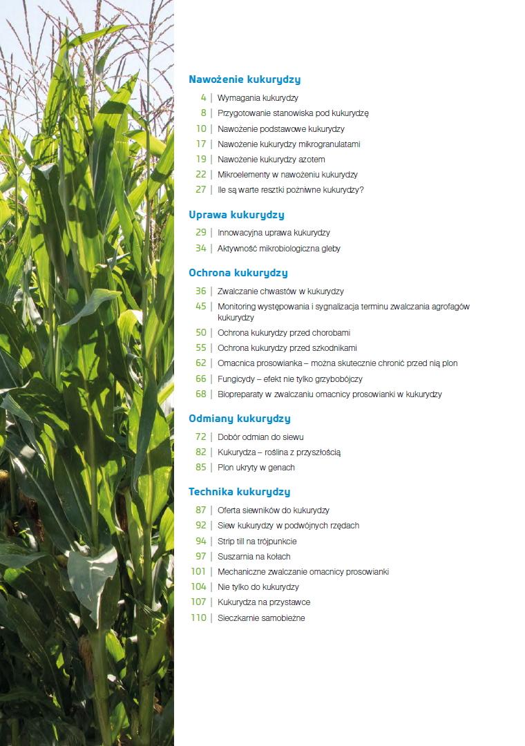 Kukurydza publiakcja specjalna spis treści
