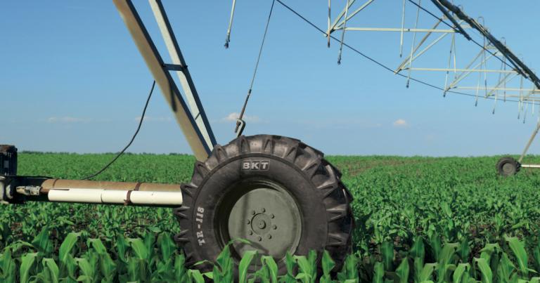 Nawadnianie upraw z oponami BKT