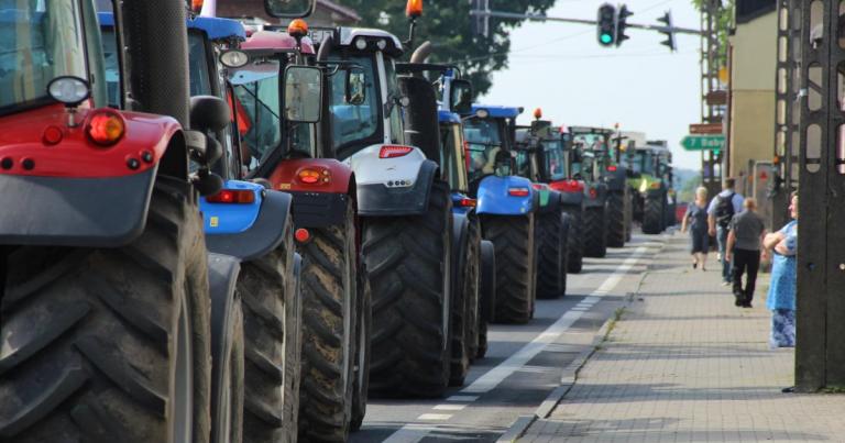 Policja komentuje protest AGRO-Unii