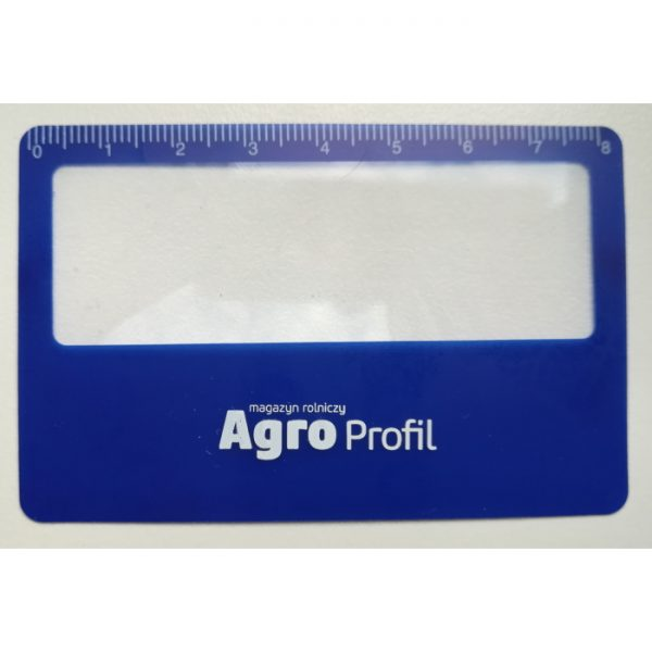 Lupa linijka szkło powiększające w kształcie karty kredytowej