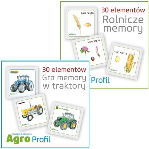 Gra memory od Agro Profil w traktory, rolnicze