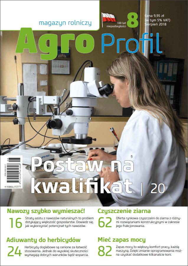Agro Profil magazyn rolniczy nr 8/2018