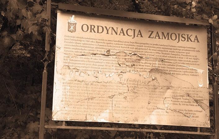 Tablica Ordynacja Zamojska